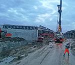 Репортаж о заливке мостовой конструкции на дублере МКАД (Солнцево-Бутово)