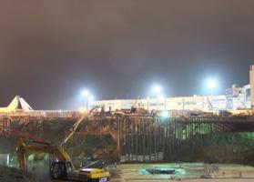 Репортаж о заливке фундаментной плиты в аэропорту «Домодедово» в блоге